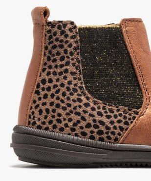 Boots bébé fille dessus cuir irisé façon Chelsea - Bopy vue6 - BOPY - GEMO