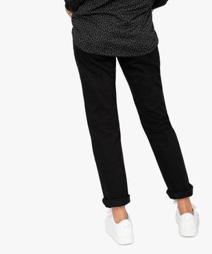 Jean femme en toile unie 4 poches coupe Regular - Longueur L30 vue3 - GEMO (JEAN) - GEMO