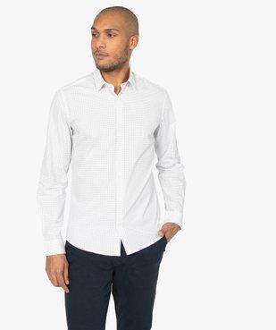 Chemise homme à petits motifs coupe slim vue1 - GEMO (HOMME) - GEMO