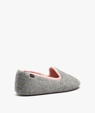 Chaussons femme slippers en velours pailleté - Dim vue4 - DIM - GEMO