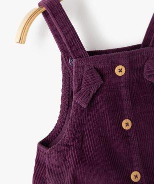 Robe bébé fille à bretelles en velours côtelé vue2 - GEMO(BEBE DEBT) - GEMO