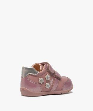 Chaussures bébé fille à scratch décor fleurs - Geox vue4 - GEOX - GEMO