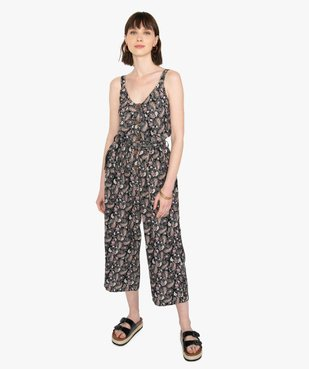 Combinaison pantalon femme imprimée en lin vue1 - GEMO(FEMME PAP) - GEMO