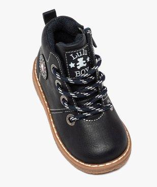 Boots bébé garçon à lacets et zip – LuluCastagnette vue5 - LULU CASTAGNETT - GEMO