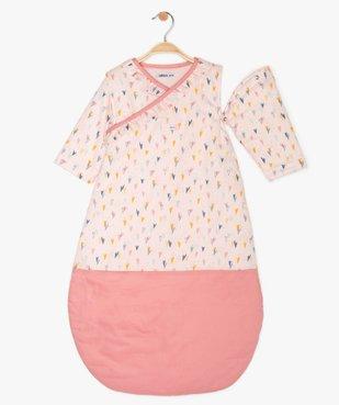 Gigoteuse bébé fille à motifs cœurs avec manches amovibles vue2 - GEMO C4G BEBE - GEMO