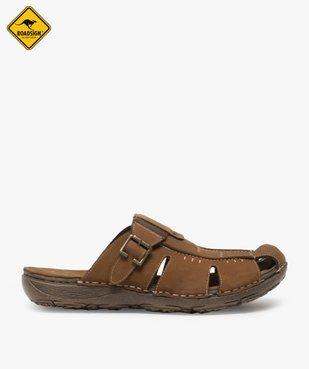 Sandales homme mules à semelle intérieure cuir - Roadsign vue1 - ROADSIGN - GEMO