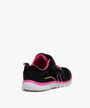 Baskets fille bicolores à lacets élastiques et scratch vue4 - GEMO (ENFANT) - GEMO