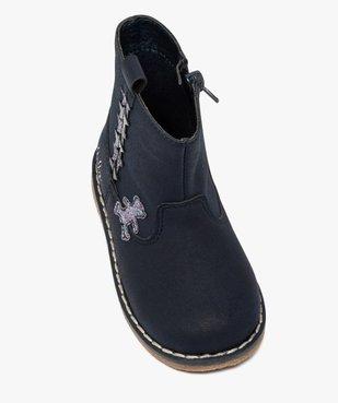 Boots bébé fille zippés à détails pailletés – Lulu Castagnette vue5 - LULU CASTAGNETT - GEMO