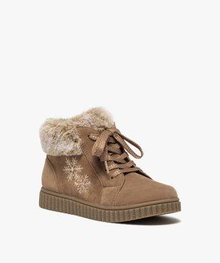 Boots fille rembourrées en suédine unie à col duveteux vue2 - Nikesneakers (ENFANT) - Nikesneakers