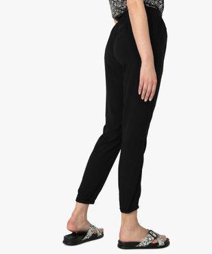 Pantalon femme fluide à taille élastiquée vue3 - GEMO(FEMME PAP) - GEMO
