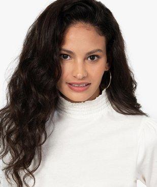 Tee-shirt femme à manches longues col montant vue2 - GEMO C4G FEMME - GEMO