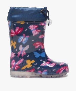 Bottes de pluie fille avec motifs papillon et col ajustable vue1 - GEMO (ENFANT) - GEMO