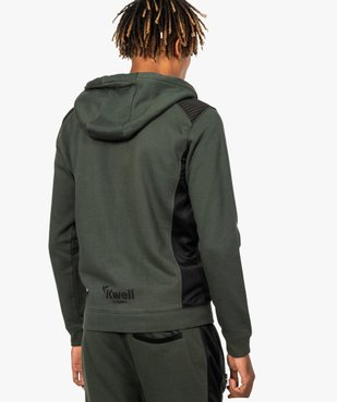 Sweat homme zippé avec empiècements épaules - Kwell by Soprano vue3 - KWELL - GEMO