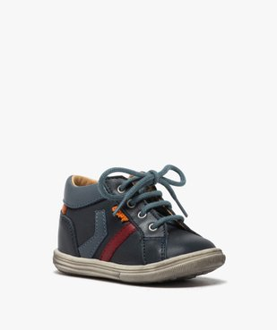 Chaussures premiers pas bébé garçon à lacets - Bopy vue2 - BOPY - GEMO