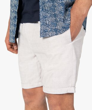 Bermuda homme avec taille élastiquée ajustable vue2 - Nikesneakers (HOMME) - Nikesneakers