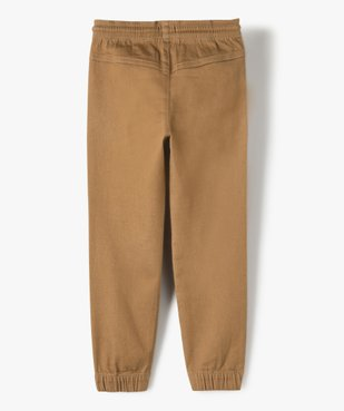 Pantalon garçon avec empiècements surpiqués aux genoux vue5 - GEMO C4G GARCON - GEMO