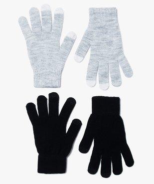 Gants femme pour écrans tactiles (lot de 2 paires) vue3 - GEMO (ACCESS) - GEMO