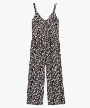 Combinaison pantalon femme imprimée en lin vue4 - GEMO(FEMME PAP) - GEMO