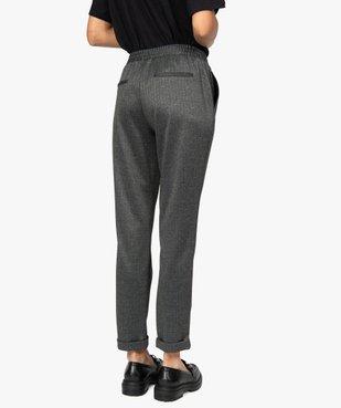 Pantalon femme en maille extensible imprimé vue3 - GEMO(FEMME PAP) - GEMO