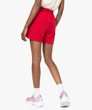 Short femme ample taille haute à pont boutonné vue3 - GEMO(FEMME PAP) - GEMO
