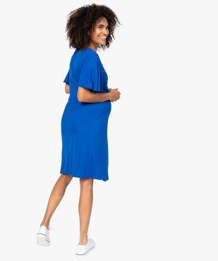 Robe de grossesse col V avec bande froncée vue3 - GEMO (MATER) - GEMO