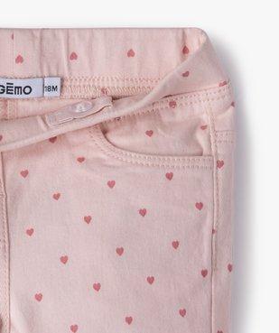 Pantalon bébé fille coupe slim avec taille élastiquée vue2 - GEMO(BEBE DEBT) - GEMO
