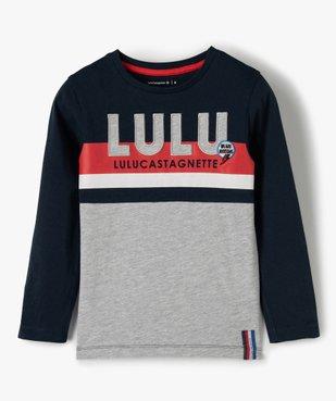 Tee-shirt garçon multicolore à manches longues - Lulu Castagnette vue1 - LULUCASTAGNETTE - GEMO