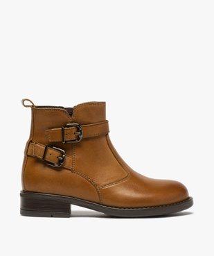 Boots fille dessus cuir uni à bride décorative vue1 - GEMO (ENFANT) - GEMO