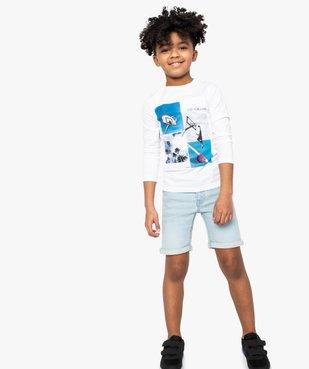 Bermuda garçon en jean stretch - Lulu Castagnette vue1 - LULUCASTAGNETTE - GEMO