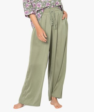 Bas de pyjama femme large et satiné vue1 - GEMO(HOMWR FEM) - GEMO