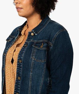 Veste femme grande taille en jean stretch vue2 - GEMO (G TAILLE) - GEMO