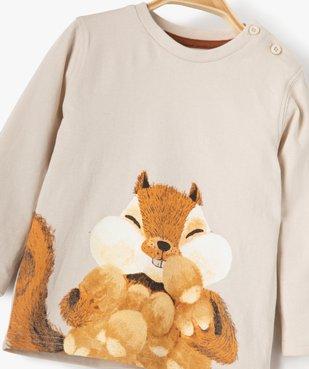 Tee-shirt bébé garçon avec motif écureuil vue2 - GEMO(BEBE DEBT) - GEMO
