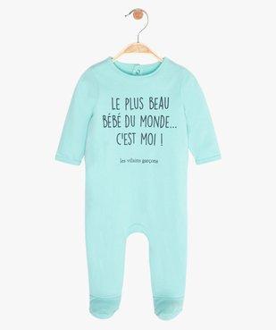 Pyjama bébé garçon à message humoristique - GEMO x Les Vilaines filles vue1 - VILAINES FILLES - GEMO
