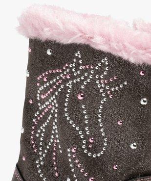 Bottes fourrées fille décor métallisé licorne vue6 - Nikesneakers (ENFANT) - Nikesneakers