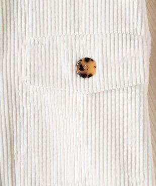 Veste fille en velours côtelé aspect chemise vue3 - GEMO (JUNIOR) - GEMO