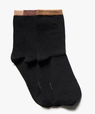 Chaussettes femme détails pailletés (lot de 3 paires) vue1 - Nikesneakers(HOMWR FEM) - Nikesneakers