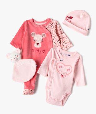 Ensemble bébé 4 pièces : dors-bien, body, bonnet et doudou - Sucre d'Orge vue1 - SUCRE D'ORGE - Nikesneakers