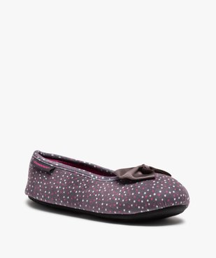 Chaussons femme forme ballerine à pois - Isotoner vue2 - ISOTONER - Nikesneakers