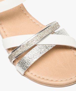 Sandales fille à brides strass et métallisées vue6 - GEMO (ENFANT) - GEMO