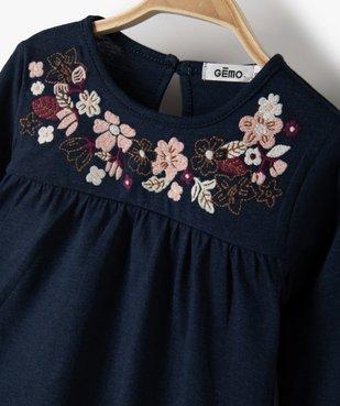 Tee-shirt bébé fille à manches longues avec haut brodé vue2 - Nikesneakers(BEBE DEBT) - Nikesneakers
