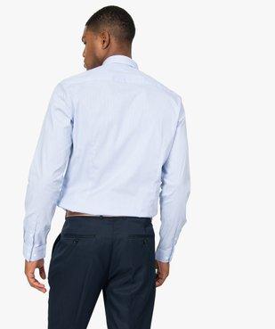 Chemise homme rayée coupe slim en coton stretch vue3 - GEMO (HOMME) - GEMO