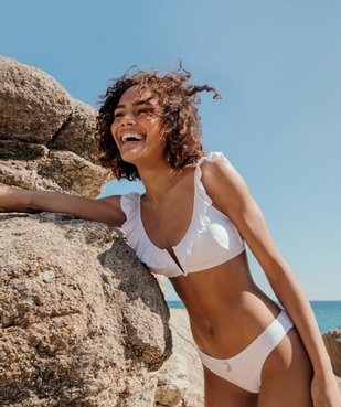 Bas de maillot de bain femme forme slip avec boutons fantaisie vue6 - GEMO (PLAGE) - GEMO