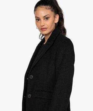 Manteau femme mi-long à col tailleur vue2 - GEMO(FEMME PAP) - GEMO