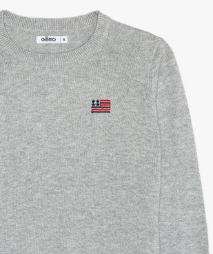 Pull garçon en coton avec drapeau américain vue2 - GEMO (ENFANT) - GEMO
