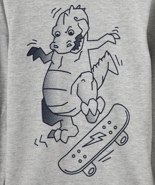 Tee-shirt garçon à manches longues avec large motif  vue2 - GEMO C4G GARCON - GEMO