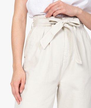 Pantalon femme taille haute - Lulu Castagnette vue2 - GEMO(FEMME PAP) - GEMO