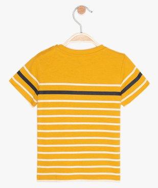Tee-shirt bébé garçon à manches courtes avec motif vue2 - GEMO C4G BEBE - GEMO