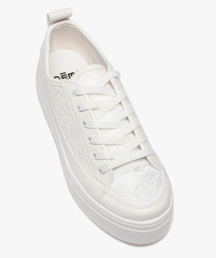 Tennis femme unies à lacets dessus dentelle vue5 - Nikesneakers (SPORTSWR) - Nikesneakers
