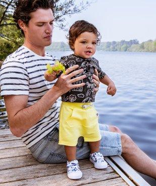 Tee-shirt bébé garçon à manches courtes avec motifs vue5 - GEMO C4G BEBE - GEMO