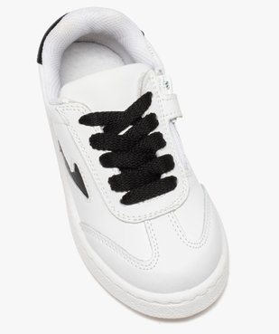 Tennis enfant bicolores à lacets et zip vue5 - GEMO (ENFANT) - GEMO